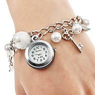 Relógio Pulseira Feminino com Pingentes (Branco)