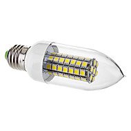 7W E26/E27 Luces LED en Vela C35 63 SMD 5050 650 lm Blanco Natural Decorativa AC 100-240 V