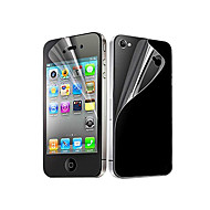 Clear Front and Back Screen Protector for iPhone 4/4S