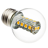 3W E26/E27 LED-bollampen G45 18 SMD 5050 230 lm Warm wit AC 220-240 V