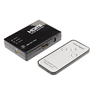 HDMI Switch 3in 1out 1080p HDMI1.3 con telecomando