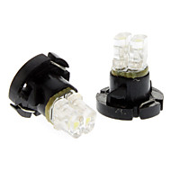 T4.2 Cold White Light LED Bulb for Car Instrument Lamp (DC 12V, 1-Pair)