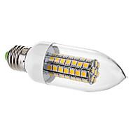 7W E26/E27 Luzes de LED em Vela C35 63 SMD 5050 650 lm Branco Quente Decorativa AC 220-240 V