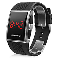 Men's Watch Red LED Silicone Strap Wrist Watch Cool Watch Unique Watch