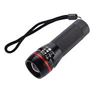 Ruhuqa 1 형태 크리 사람 XP-E Q5 급상승 LED 손전등 (160LM, 3XAAA, 블랙)