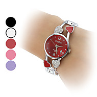 reloj de las mujeres del análogo de cuarzo del estilo del corazón hueco venda de la aleación pulsera (colores surtidos)