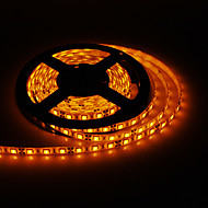 5M 50W 300x5050SMD Yellow Light LED Strip Lamp with AC Adapter (100-240V)