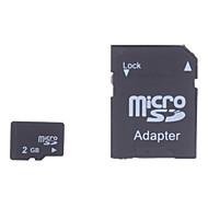 2gb micro sd / tf Tarjeta de memoria SDHC y SD micro SDHC con adaptador sd