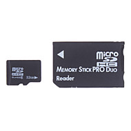 32GB Class 6 MicroSDHC Memory Card and Memory Stick PRO Duo Adapter