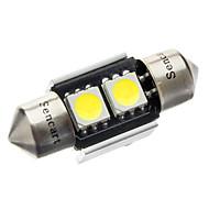 31 milímetros 1W 2-LED de 70 80LM 6000-6500K Lâmpada Luz Branca para carro CANBUS (DC 12V)