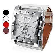 Masculino Relógio de Pulso Quartz PU Banda Preta / Branco / Vermelho / Marrom marca-