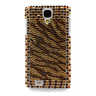 Rhinestone Dekorert Tiger Stripe vanskelig sak for Samsung Galaxy S4 I9500
