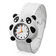 Children's Lovely Panda Style White Silicone Band Quartz Analog Wrist Watch