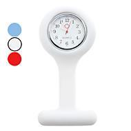 unisex analogica silicone orologio da tasca di quarzo (colori assortiti)
