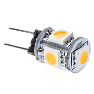 G4 1 W 5 SMD 5050 75 LM Warm White T Corn Bulbs DC 12 V