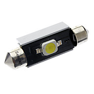 41mm/42mm 2W 1x7060SMD 90-110LM 6000-6500K White Light LED-Lampe Auto (DC 12-18V)