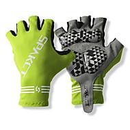 SPAKCT S13G03 Trajni poliester i Vinylal Materijali poluvrijeme prst rukavice Dizajn za Biciklizam Bicikl-Green