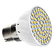 B22 4.5 W 60 SMD 3528 240 LM Warm White Spot Lights AC 220-240 V