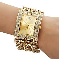Mujer Reloj de Moda Cuarzo Banda Destello Dorado Marca-