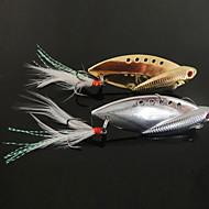 New Pesca Diseñado de 3 ganchos con forma de pez señuelo del metal (10g, 14g, 22g, color ramdon)