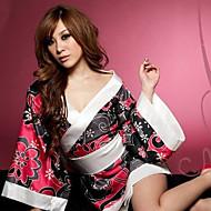 Moonlight Pretty Red and Black Satin Kimono Costume
