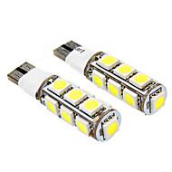T10 2.5W 13x5050SMD 140-160lm 6000-6500K 2-Mode bílé světlo LED žárovka pro auto (DC 12V, 2-Pack)