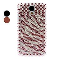 Rhinestone Decorated Tiger Stripe Pattern Hard Case for Samsung Galaxy S4 I9500
