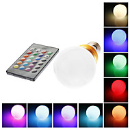 E26/E27 5W 1 LM RGB G60 Remote-Controlled LED Globe Bulbs AC 85-265 V