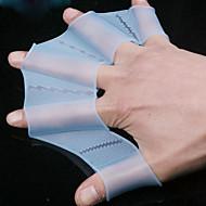 Piccolo formato 100% del silicone Nuoto Praticare guanti palmati (2 pezzi, ramdon colori)