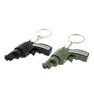 ABS Porte-clés en forme de pistolet avec LED et voix (couleur aléatoire)
