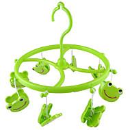 Zielone plastikowe 8 Clips Frog Smile zwijające Shell szalik rękawiczki ręczniki wiszące ubrania peg