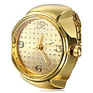 Women's Round Case Gold Alloy Quartz Ring Watch Cool Watches Unique Watches Fashion Watch