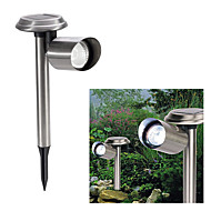 Cool White Light LED Solar Power Outdoor Garden Yard Rustfri genopladelige LED lys Lawn Lampe