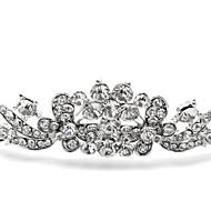 ślub srebrny diadem stop dla panny młodej (1 szt)