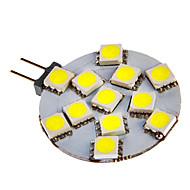 G4 3W 12x5050SMD 108LM 6000-7000K Bianco freddo della lampada a LED per auto (12V DC)