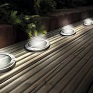 Luce Deck terra Luci Patio Luce solare dell'acciaio inossidabile LED
