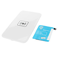 Wireless Charger Pad & Receiver with AWG AC Adapter and Wireless Accept for Samsung Galaxy Note 3 (White)