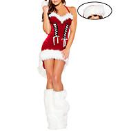 Doux Furry Girl Dress Noël rouge avec bowknot