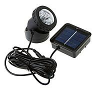 6-LED impermeable Powered Spotlight jardín al aire libre de la lámpara de inundación solar