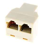 RJ45 1 to 2 LAN Network Cable Y Splitter Extender Plug