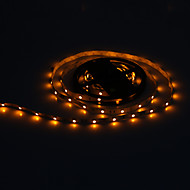 5M 30W 30x5050SMD 1500-1800LM Yellow Light LED Strip Light 12V 3A Adapter
