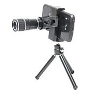 Universal 12X Zoom Lens Set for iPhone 5s / c / 4s, Samsung Note 3 / S4 / S3 + More - Silver