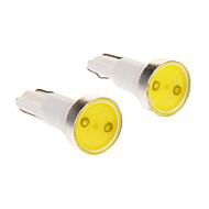 T5 0.5W 1-LED 6000K Cool White Light LED-polttimo Car (12V, 2kpl)