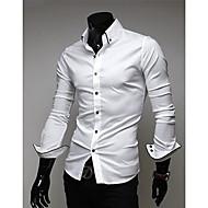Men'S Casual Slim Long Sleeve Shirt