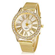Dames Dress horloge Modieus horloge Polshorloge Strass imitatie Diamond Kwarts Legering Band Glitter Bloem Goud