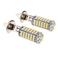 H1 3.5W 102x3528SMD 6000K Cool White Light LED Bulb for Car (12V,2pcs)
