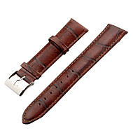 Unisex 20mm Craquelure Grain Leather Watch Band (Brown)