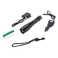 LED Flashlights/Torch / Handheld Flashlights/Torch LED 4 Mode 350 Lumens Adjustable Focus / Waterproof / Rechargeable Cree XM-L T6 18650