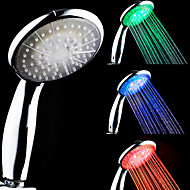 Température 3-Color sensibles LED changeant de couleur douche à main