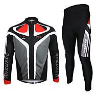 Arsuxeo Vélo/Cyclisme Maillot / Maillot + Pantalon/Maillot+Collant / Ensemble de Vêtements/Tenus Homme Manches longuesRespirable /